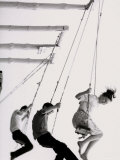 Kids on Swing Photographic Print