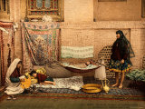 Persian Family in a House of Teheran Photographic Print