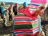 Aymara Indian Farmers Celebrate the Feast of the Cross Photographic Print