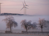 Wind Generators in Eifel Region Mountains Near Hallschlag, Germany, December 29, 2006 Photographic Print by Roberto Pfeil