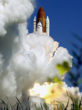 The Space Shuttle Atlantis Lifts off Photographic Print