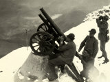 Small Anti-Aircraft Cannon on Monte Nero During World War I Photographic Print