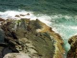 Waves Crash Against the Rocks at Seal Bay on Kangaroo Island, Australia, December 7, 2001 Photographic Print by Barnini Chakraborty