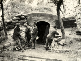 Cement Communication Trenches in 'Serravalle All'Adige' During World War I Photographic Print