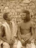 Portrait of Two Young Egyptians Photographic Print