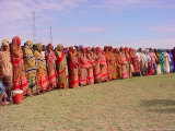 Somali Women in Colorful Dress Come out to Support the Transitional Federal Government Photographic Print