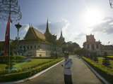 Royal Palace Guard Stands During Coronation Ceremonies in Phnom Penh Thursday October 28, 2004 Photographic Print by Andy Eames
