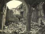 Building Destroyed by Bombings Near Oppachiasella, on the Italian-Slovenian Border Photographic Print