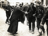 The Image Shows a Lady Giving Some Bread to Some Belgian Soldiers, in the Village of Wetteren Photographic Print