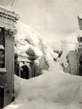 Snow-Covered Buildings Destroyed by WWI Bombings Photographic Print