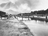 Bridge Over the River Motrone in Versilia Photographic Print