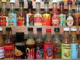 These are Sample Bottles of Hot Sauce Sold by Kaufman's Fancy Fruit and Vegetables Photographic Print by John Gillis
