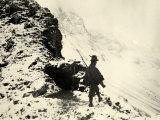 Italian Sentry on Monte Nero During World War I Photographic Print