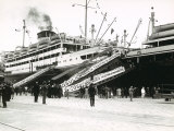 A Passenger Ship in Port Photographic Print