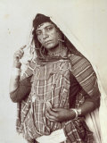 Three-Quarter-Length Portrait of a Young Berber Woman in Ethnic Clothes Photographic Print