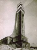 Drawing by the Architect Quirino De Giorgio of a Project for a Stone Lighthouse Photographic Print by Quirino De Giorgio