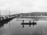 Orbetello. Panorama with the Dam Photographic Print