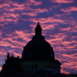 The Dome of the State Capitol in Pierre, South Dakota, at Dawn, October 5, 2006 Photographic Print by Joe Kafka
