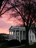 The Early Morning Sunrise Warms the Sky Over the White House Photographic Print by Ron Edmonds