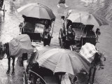 Carriage on a Rainy Day, Florence Photographic Print