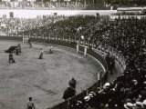 Interior of an Arena Crowded with Spectators During a Bullfight Photographic Print