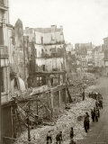 The Image Shows the Effects of German Bombardments on the City of Antwerp Photographic Print