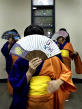 Paraguayan-Japanese Students Practice Traditional Dance in Asuncion, Paraguay, October 24, 2006 Photographic Print by Jorge Saenz