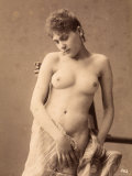 Portrait of a Young Bare-Breasted Woman Photographic Print