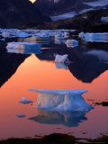 An Iceberg Floats in the Bay in Kulusuk, Greenland Near the Arctic Circle Tuesday Aug 16, 2005 Photographic Print by John Mcconnico