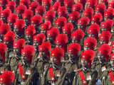 Security Personnel March at the Republic Day Parade in New Delhi, India, Friday, January 26, 2007 Photographic Print by Mustafa Quraishi