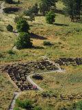 13th Century Tyuonyi Pueblo Ruins Fotodruck von Pat Vasquez-cunningham