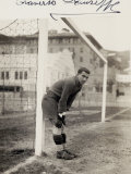 Portrait of Giuseppe Traverso, Goalie on the Genova Soccer Team Photographic Print