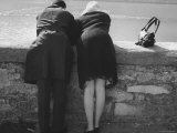 Couple Leaning on a Parapet Photographic Print