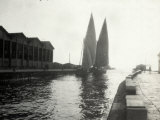 The Arrival of the Lateen-Rigged Fishing Boats to Viareggio's Dock Photographic Print