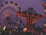 The Popular Midway Section of the New York State Fair Photographic Print by Michael Okoniewski