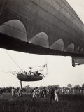 A Dirigible Takes off from Campalto, in the Province of Venice Photographic Print