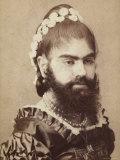 Portrait of a Bearded Woman Reproduction photographique