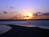 Sun Setting Over Mafia, the Main Island in the Tanzania's Mafia Archipelalgo, October 28, 2005 Photographic Print by Rodrique Ngowi