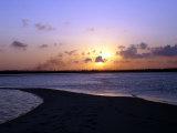 Sun Setting Over Mafia, the Main Island in the Tanzania's Mafia Archipelalgo, October 28, 2005 Photographic Print by Rodrique Ngowi