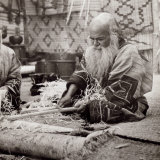 Ainu Ritual of the Bear (Iyomande): Ekashi Prepare the Inau to Offer at Bears During the Ceremony Photographic Print