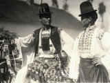 Two Men in Hungarian Traditional Dresses Richly Embroidered Photographic Print