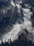 Snow Summit Ski Area in Big Bear Lake, California, Struggles to Make Artificial Snow Photographic Print by Adrienne Helitzer