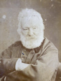 Half-Length Portrait of the Famous French Writer Victor Hugo Photographic Print