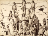 Group of Children from a Native Tribe Photographic Print