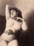 Portrait of a Nude Woman with a Belt Photographic Print