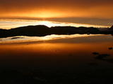 The Sun Sets on Kulusuk, Greenland Photographic Print