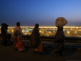 Hindu Devotees Walk to Return Home, Ardh Kumbh Mela Festival in Allahabad, India, January 19, 2007 Photographic Print by Rajesh Kumar Singh