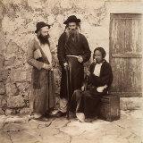 Portrait of Three Jewish Men in Jerusalem Photographic Print