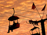 An Illinois State Fair Visitor Rides the Sky Ride Photographic Print