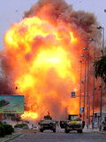 A Car Bomb Explodes Photographic Print